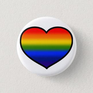(Heart) Rainbow button