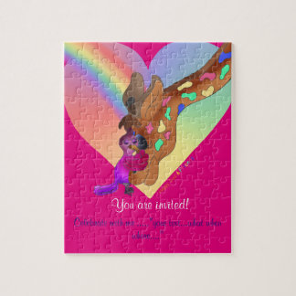 Heart Rainbow & Lila by The Happy Juul Company Jigsaw Puzzle