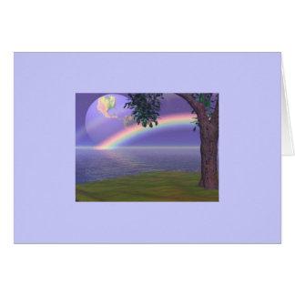 HEART RAINBOW TREE CARD