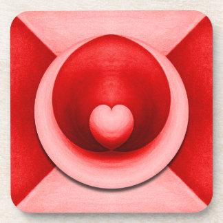 Heart Red Hot Love Beverage Coaster