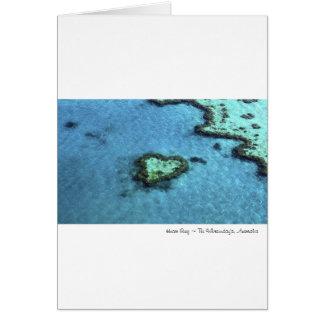 Heart Reef - Australia Card