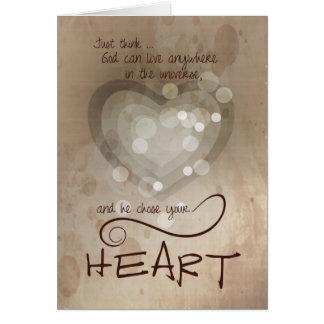 Heart Religious Encouragement Card