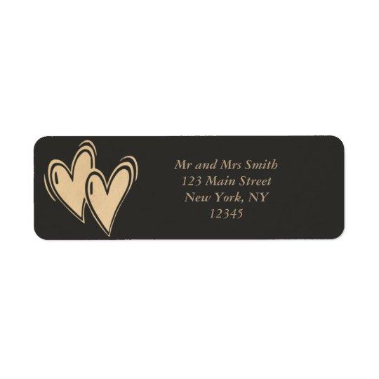 Heart Return Address Label
