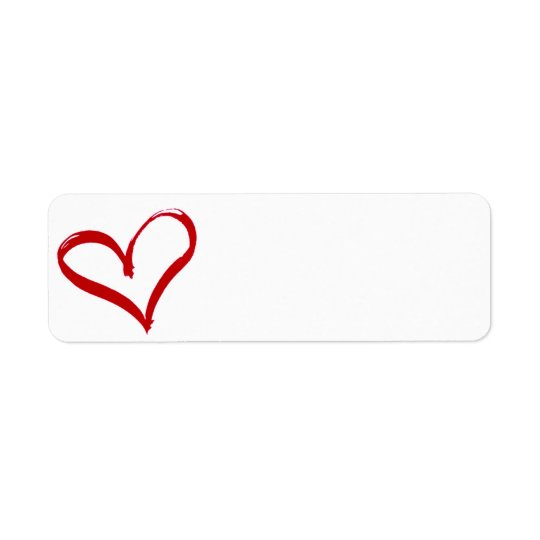 Heart Return Address Label