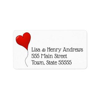Heart return address labels