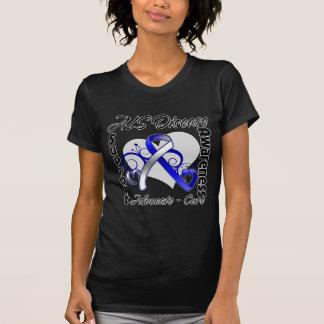 Heart Ribbon - ALS Disease Awareness Tee Shirts
