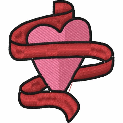 Heart Ribbon Custom Monogrammed Embroidered Shirt