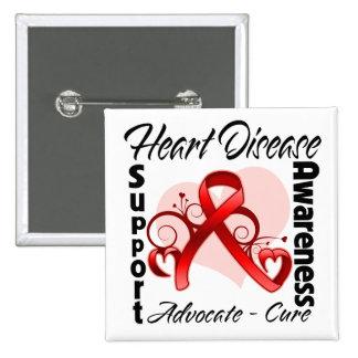 Heart Ribbon - Heart Disease Awareness Pin
