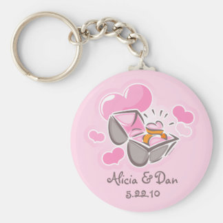 Heart Ring Custom Keepsake Basic Round Button Key Ring