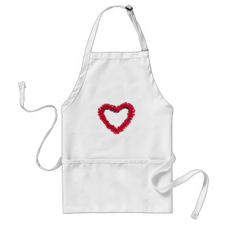 Heart rose wreath aprons