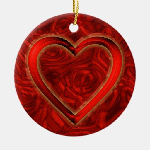 Heart & Roses Ornaments