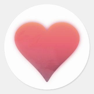 """""""Heart"""" Round Sticker, 3 inch (sheet of 6) Classic Round Sticker"""