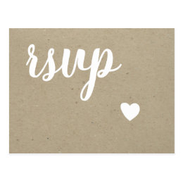 wedding rsvp postcards