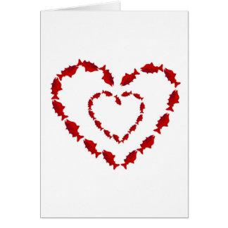 HEART SALMON FISH CARD