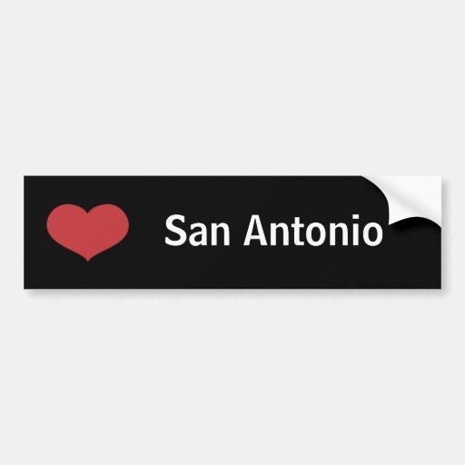 Heart San Antonio Bumper Sticker