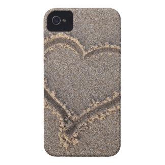 Heart Sand Beach Summer Sea Love Vacation Travel iPhone 4 Case