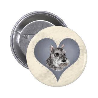 Heart Schnauzer Button