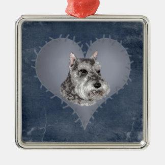 Heart Schnauzer Christmas Ornament