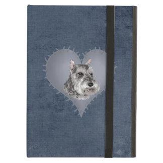 Heart Schnauzer iPad Air Cover
