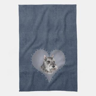 Heart Schnauzer Towel