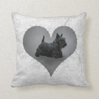 Heart Scottie Cushion