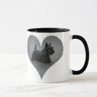 Heart Scottie Mug