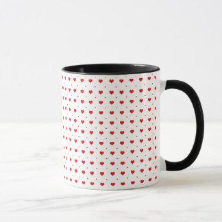 Heart seamless pattern mug