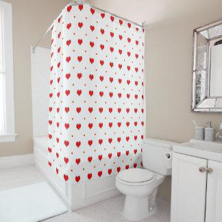 Heart seamless pattern shower curtain