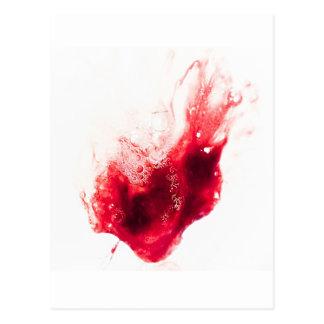 Heart Shape Blood Splatter Postcard