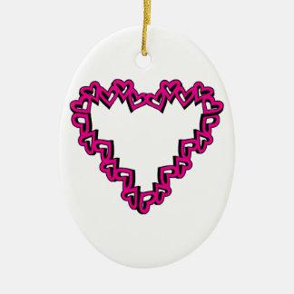 Heart Shape Christmas Tree Ornaments