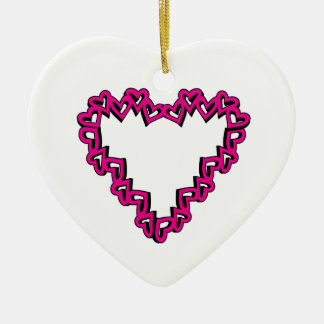 Heart Shape Christmas Tree Ornament