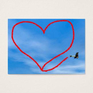 Heart shape from biplan smoke - 3D render Business Card