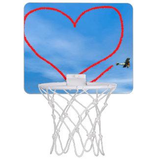 Heart shape from biplan smoke - 3D render Mini Basketball Hoop