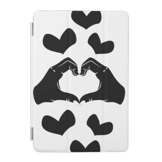 Heart Shape Hands Illustration with black hearts iPad Mini Cover