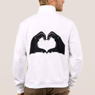 Heart Shape Hands Illustration with black hearts Jacket
