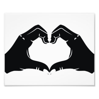 Heart Shape Hands Illustration with black hearts Photo Art