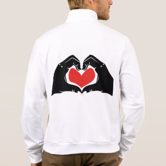 Heart Shape Hands Illustration with red hearts Jacket