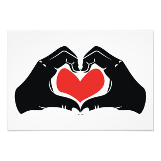 Heart Shape Hands Illustration with red hearts Photograph
