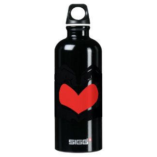 Heart Shape Hands Illustration with red hearts Water Bottle