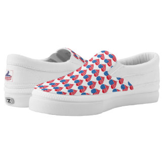 Heart-Shaped American Flag Slip On Shoes Printed Shoes