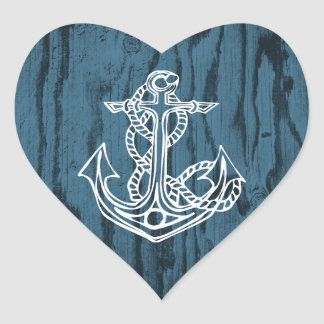 Heart Shaped Anchor Stickers