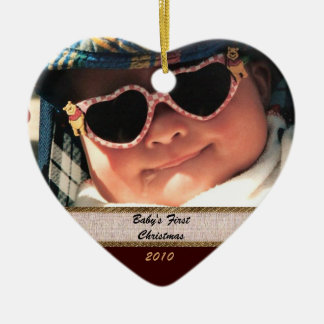Heart Shaped Baby's First Christmas Ornament
