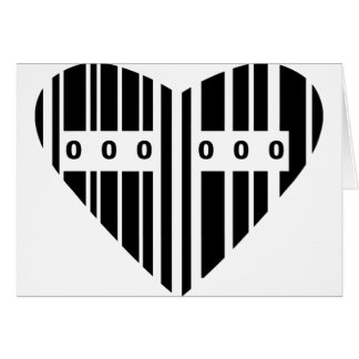 Heart Shaped Barcode Card