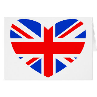 Heart Shaped British Flag Cards