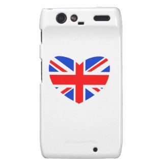 Heart Shaped British Flag Motorola Droid RAZR Cover