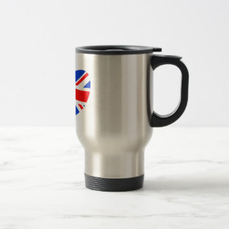 Heart Shaped British Flag Coffee Mugs