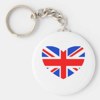 Heart Shaped British Flag Key Chain