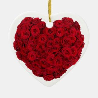 Heart shaped bunch ceramic heart ornament