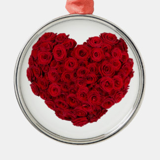 Heart shaped bunch Silver-Colored round ornament