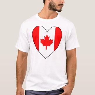 Heart-shaped Canadian Flag T-Shirt